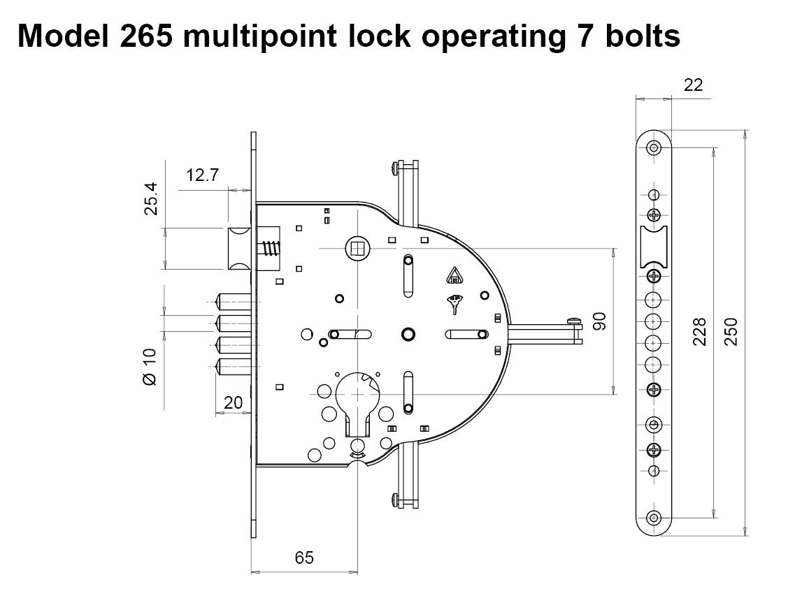 4 Way Locks 235 265 Multipoint Mortise High Security Padlock Assa Abloy Wiring Diagrams Drw 203 Kb
