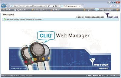 CLIQ Web Manager Software
